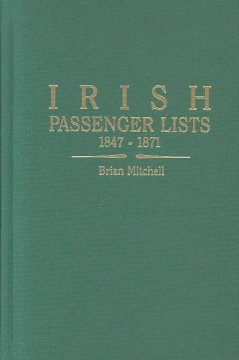 Irish Passenger Lists, 1847-1871
