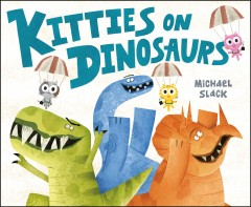 Kitties on Dinosaurs