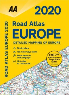 AA Road Atlas Europe 2020