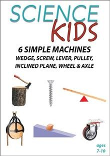 Science Kids- 6 Simple Machines - Wedge, Screw, Lever, Pulley, Inclined Plane, Wheel & Axle