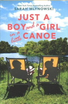 Just a boy and a girl in a little canoe
