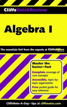 CliffsQuickReview-algebra-I