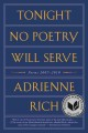 Tonight no poetry will serve : poems, 2007-2010