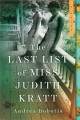 The last list of Miss Judith Kratt