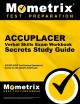 ACCUPLACER Verbal Skills Exam Secrets : ACCUPLACER Test Practice Questions & Review for the ACCUPLACER Exam