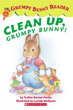 Clean up, grumpy bunny