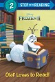Olaf loves to read!
