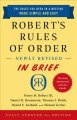 Robert's Rules of order : newly revised in brief