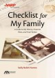 Checklist for my family : a guide to my history, financial plans, and final wishes