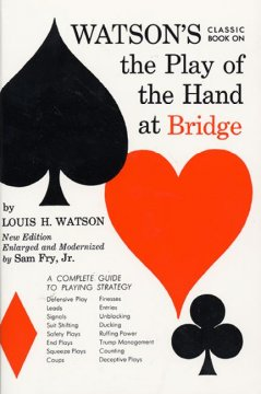 Watson's classic book on the play of the hand at bridge cover image