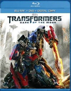 Transformers [Blu-ray + DVD combo] dark of the moon cover image