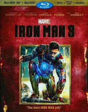 Iron man 3 [3D Blu-ray + Blu-ray + DVD combo] cover image