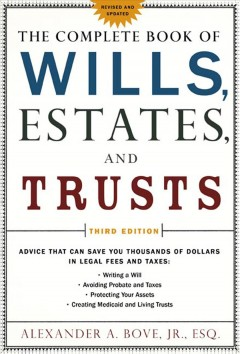 The complete book of wills, estates & trusts cover image