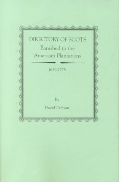Directory of Scots banished to the American plantations, 1650-1775 cover image