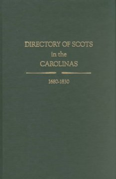 Directory of Scots in the Carolinas, 1680-1830 cover image