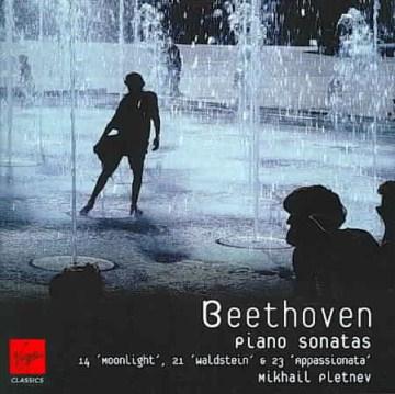 """Piano sonatas no. 14, """"Moonlight"""" ; no. 21, """"Waldstein"""" ; no. 23, """"Appassionata"""" cover image"""