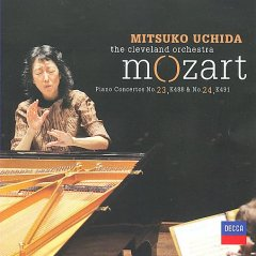 Mozart concertos, 24, K491 & 23, K488 & cover image
