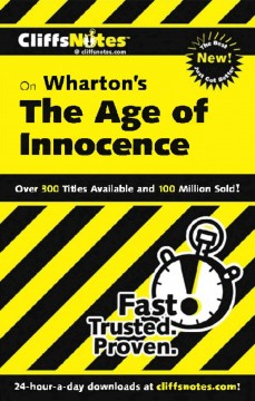 CliffsNotes Wharton's The age of innocence cover image