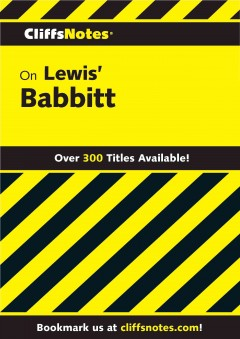 Cliffsnotes on lewis' babbitt cover image