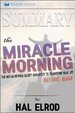 The miracle morning cover image