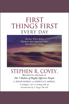 First things first every day cover image