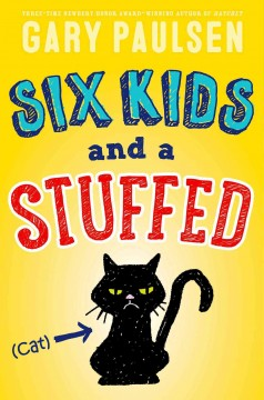 Six kids and a stuffed cat cover image