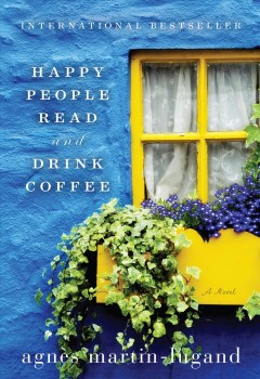 Happy people read and drink coffee cover image