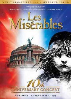 Les misérables in concert a musical cover image