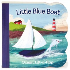 Little blue boat : ocean lift-a-flap cover image