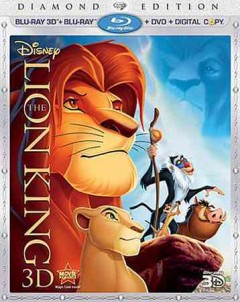 The lion king 3D [3D Blu-ray + Blu-ray + DVD combo] cover image