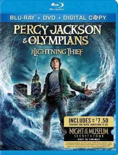 Percy Jackson & the Olympians [Blu-ray + DVD combo] the lightning thief cover image
