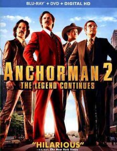 Anchorman. 2 [Blu-ray + DVD combo] the legend continues cover image