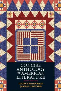 Concise anthology of American literature cover image