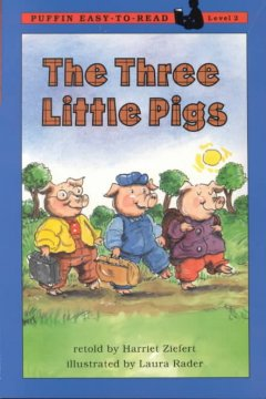 The three little pigs cover image
