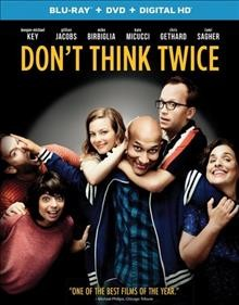Don't think twice [Blu-ray + DVD combo] cover image