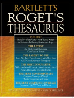 Bartlett's Roget's thesaurus cover image