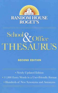 Random House Roget's school & office thesaurus cover image