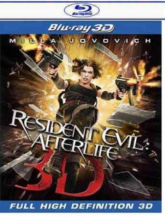 Resident evil [3D Blu-ray + Blu-ray combo] afterlife 3D cover image