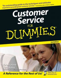 Customer service for dummies cover image