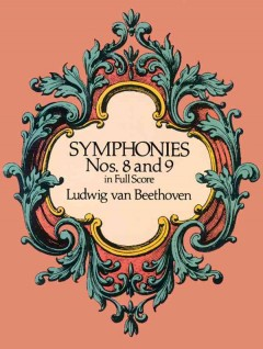 Symphonies nos. 8 and 9 in full score cover image