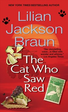 The cat who saw red cover image