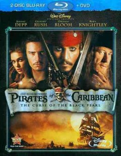 Pirates of the Caribbean, the curse of the Black Pearl [Blu-ray + DVD combo] cover image