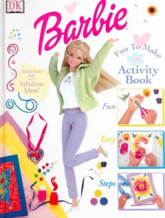 Barbie fun to make activity book cover image
