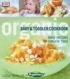 Organic baby and toddler cookbook cover image