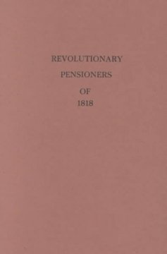 The pension list of 1820 : U.S. War Department cover image