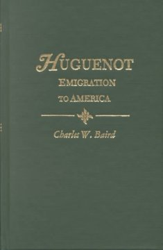 History of the Huguenot emigration to America cover image