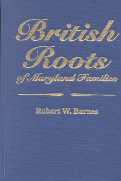 British roots of Maryland families cover image