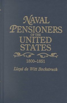 Naval pensioners of the United States, 1800-1851 cover image