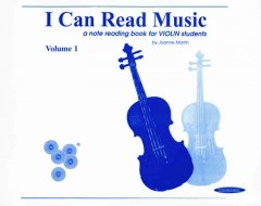 I can read music : a note reading book for violin students cover image