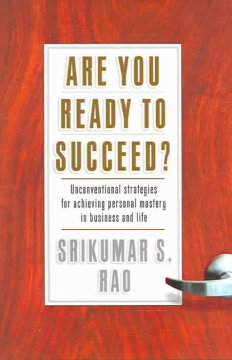Are you ready to succeed? : unconventional strategies for achieving personal mastery in business and life cover image